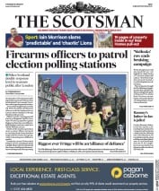 The Scotsman (UK) Newspaper Front Page for 8 June 2017