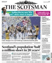 The Scotsman (UK) Newspaper Front Page for 8 July 2019