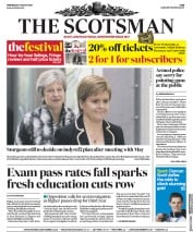 The Scotsman (UK) Newspaper Front Page for 8 August 2018