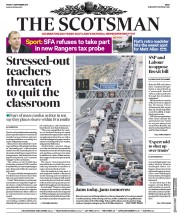 The Scotsman (UK) Newspaper Front Page for 8 September 2017