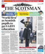 The Scotsman (UK) Newspaper Front Page for 9 November 2018