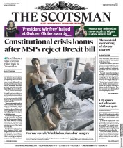 The Scotsman (UK) Newspaper Front Page for 9 January 2018