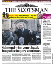 The Scotsman (UK) Newspaper Front Page for 9 January 2019