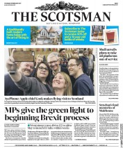 The Scotsman (UK) Newspaper Front Page for 9 February 2017