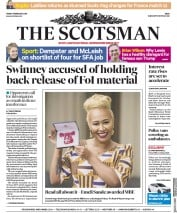 The Scotsman (UK) Newspaper Front Page for 9 February 2018