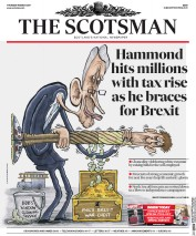 The Scotsman (UK) Newspaper Front Page for 9 March 2017