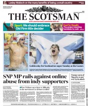 The Scotsman (UK) Newspaper Front Page for 9 April 2018