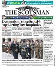 The Scotsman (UK) Newspaper Front Page for 9 August 2018