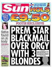 The Sun (UK) Newspaper Front Page for 12 January 2011