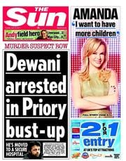 The Sun (UK) Newspaper Front Page for 12 April 2011