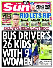 The Sun (UK) Newspaper Front Page for 17 September 2014