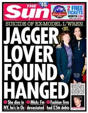 The Sun (UK) Newspaper Front Page for 18 March 2014