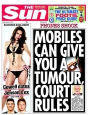 The Sun Newspaper Front Page (UK) for 19 October 2012