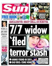 The Sun (UK) Newspaper Front Page for 1 March 2012