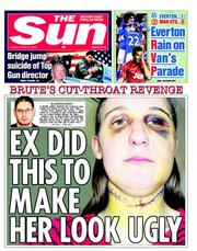 The Sun () Newspaper Front Page for 21 August 2012