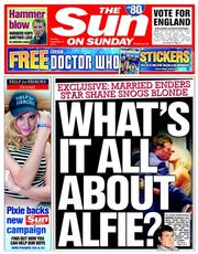 The Sun (UK) Newspaper Front Page for 21 September 2014