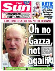 The Sun (UK) Newspaper Front Page for 22 August 2014