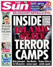 The Sun (UK) Newspaper Front Page for 22 September 2014
