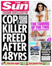 The Sun (UK) Newspaper Front Page for 23 October 2014