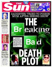 The Sun (UK) Newspaper Front Page for 23 September 2014