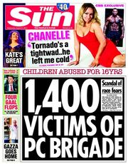 The Sun (UK) Newspaper Front Page for 27 August 2014