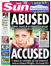 The Sun (UK) Newspaper Front Page for 28 August 2014