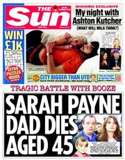 The Sun (UK) Newspaper Front Page for 30 October 2014