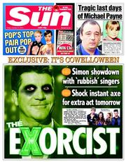 The Sun (UK) Newspaper Front Page for 31 October 2014