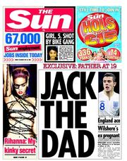 The Sun () Newspaper Front Page for 31 March 2011