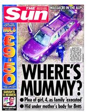 The Sun Newspaper Front Page (UK) for 7 September 2012