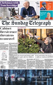 The Sunday Telegraph (UK) Newspaper Front Page for 10 December 2017