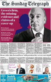 The Sunday Telegraph (UK) Newspaper Front Page for 10 February 2019