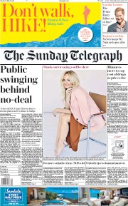 The Sunday Telegraph (UK) Newspaper Front Page for 10 March 2019