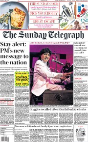 The Sunday Telegraph front page for 10 May 2020