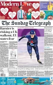 The Sunday Telegraph (UK) Newspaper Front Page for 11 February 2018