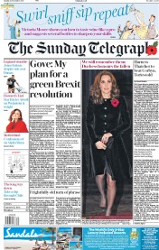 The Sunday Telegraph (UK) Newspaper Front Page for 12 November 2017