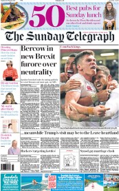 The Sunday Telegraph (UK) Newspaper Front Page for 12 February 2017