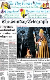 The Sunday Telegraph front page for 12 April 2020