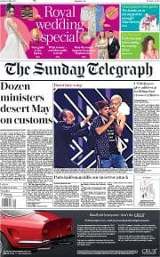 The Sunday Telegraph (UK) Newspaper Front Page for 13 May 2018
