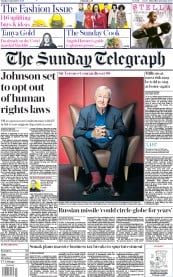 The Sunday Telegraph front page for 13 September 2020