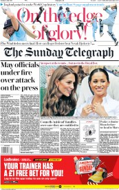 The Sunday Telegraph (UK) Newspaper Front Page for 14 July 2019