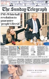 The Sunday Telegraph () Newspaper Front Page for 15 December 2019