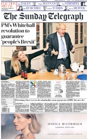 The Sunday Telegraph (UK) Newspaper Front Page for 15 December 2019