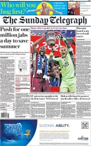 The Sunday Telegraph front page for 16 May 2021