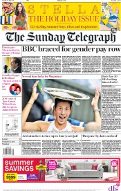 The Sunday Telegraph (UK) Newspaper Front Page for 16 July 2017