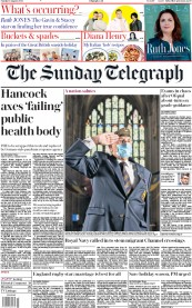 The Sunday Telegraph front page for 16 August 2020