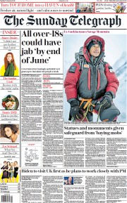 The Sunday Telegraph front page for 17 January 2021