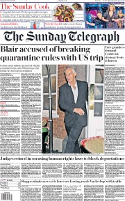 The Sunday Telegraph front page for 18 October 2020
