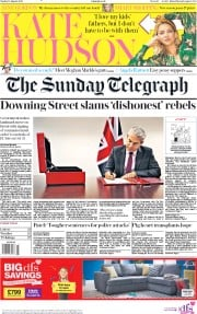 The Sunday Telegraph (UK) Newspaper Front Page for 18 August 2019