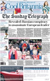 The Sunday Telegraph (UK) Newspaper Front Page for 19 February 2017